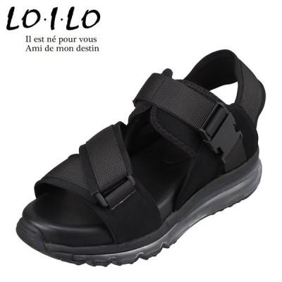 ロイロ LO・I・LO 9323 レディース | サンダル | スポーツサンダル スポサン | エアーソール | 人気 トレンド | ブラック