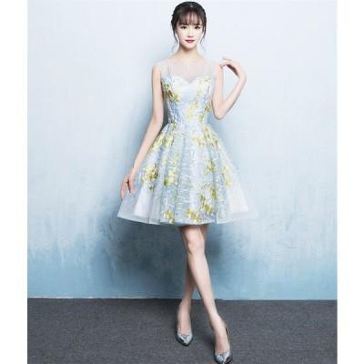 カラードレス パーティードレス ショートドレス ワンピース おしゃれ ウェディングドレス お呼ばれ セクシー 高級ドレス ワンピ ミニドレス 結婚式[ホワイト]