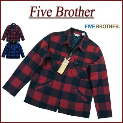 FIVE BROTHER ファイブブラザー バッファローチェック C.P.O ウールジャケット 150801