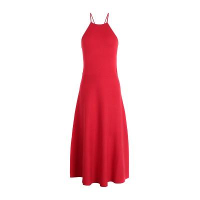 POLO RALPH LAUREN 7分丈ワンピース・ドレス レッド XS レーヨン 72% / ポリエステル 28% 7分丈ワンピース・ドレス