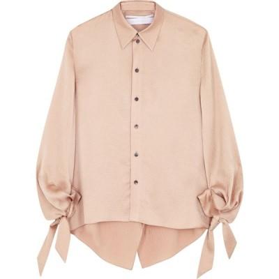 ローラン ムレ Roland Mouret レディース ブラウス・シャツ トップス Cassley blush draped hammered silk blouse Natural