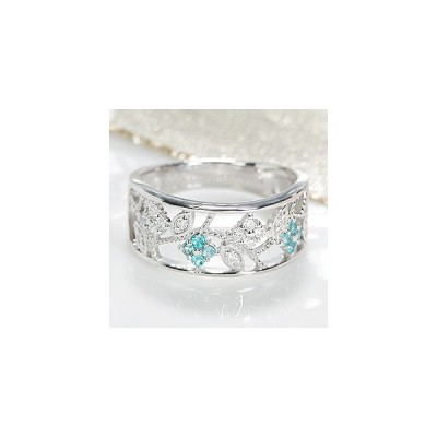 pt900 プラチナ ダイヤモンド ダイヤ 指輪 リング カラーストーン パライバトルマリン ミル打ち アンティーク CAR-0222