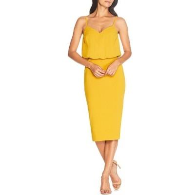 ドレスザポプレーション レディース ワンピース トップス Alondra V-Neck Sleeveless Blouson Midi Dress Marigold