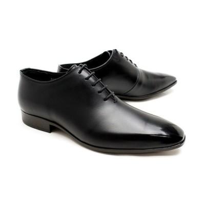 ビジネスシューズ 本革 プレーントゥ ホールカット メンズ 革靴 本革 ビジネスシューズ クインクラシコ ドレスシューズ 26004bk ブラック(黒) ホールカット