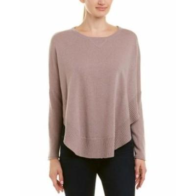 ファッション トップス Qi Cashmere Poncho Sweater Xs Purple