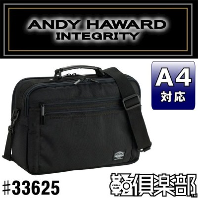 ANDY HAWARD(アンディーハワード) ショルダーバッグ 2WAY 横型 大寸 メンズ A4 26cm No33625-01 黒 ___