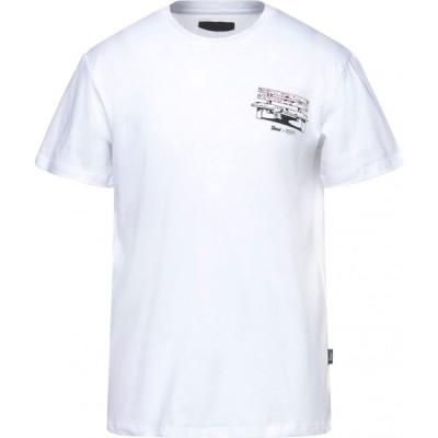 シューシャイン SHOESHINE メンズ Tシャツ トップス t-shirt White