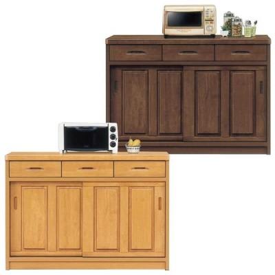 キッチンカウンター 幅120cm 完成品 間仕切り レンジ台 モダン 引き戸 キッチン収納