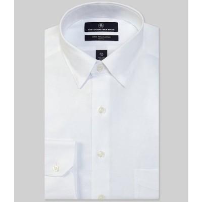 ハート シャフナー マルクス メンズ シャツ トップス Non-Iron Classic Fit Hidden-Button Down Collar Solid Basket Weave Dress Shirt