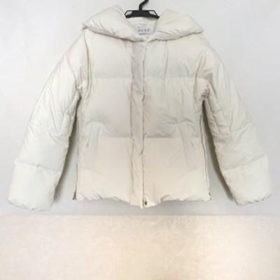 プラステ PLS+T(PLST) ダウンジャケット サイズS レディース 美品 アイボリー 冬物【中古】20210315