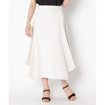 スカート ストレッチギャバ 台形ヘムスカート
