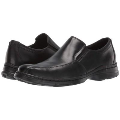 ダナム Dunham メンズ スリッポン・フラット シューズ・靴 Blair Twin Gore Slip On Black Smooth