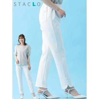 【大きいサイズ】大きいサイズ パール調パーツ使いデザインレギパン (スタクロ) 大きいサイズ パンツ レディース
