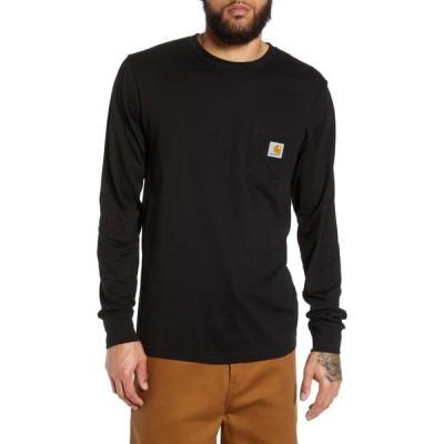 カーハート CARHARTT WORK IN PROGRESS メンズ Tシャツ ポケット トップス Pocket T-Shirt Black