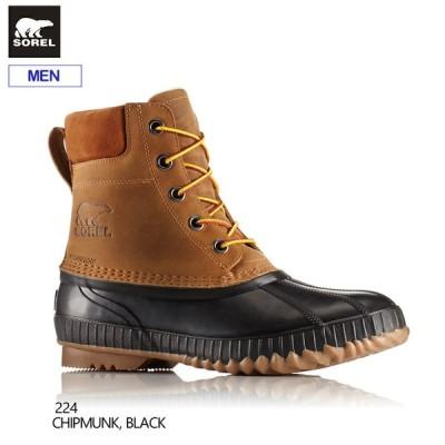 ソレル メンズ ウィンターブーツ シャイアンII NM2575 224(Chipmunk-Black) スノーブーツ 防寒ブーツ 防水 NM2575-224