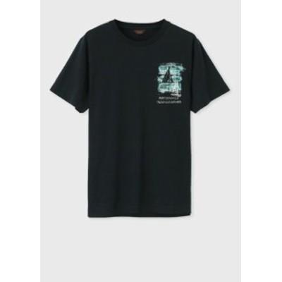ポールスミス Tシャツ ポートドーヴィルプリント ネイビー L Paul Smith