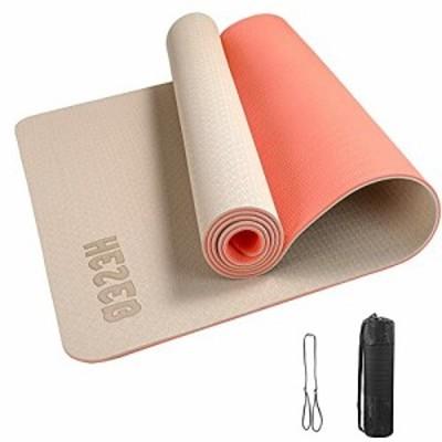 ヨガマット トレーニングマット エクササイズマット フィットネスマット 水洗い可能 滑り止め マットバッグ付 幅広 多機能高級運動 厚さ
