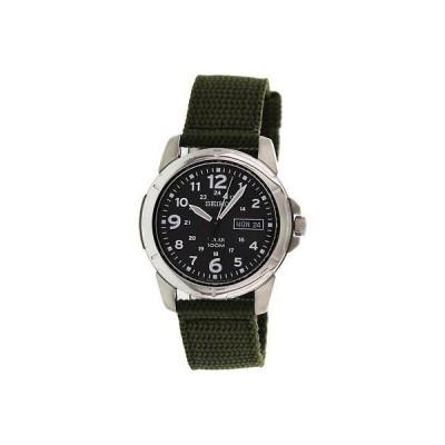 腕時計 セイコー Seiko Men's Solar SNE095P2 Black Nylon Quartz Fashion Watch