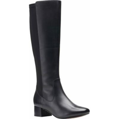 クラークス レディース ブーツ・レインブーツ シューズ Marilyn Abby Knee High Boot Black Leather