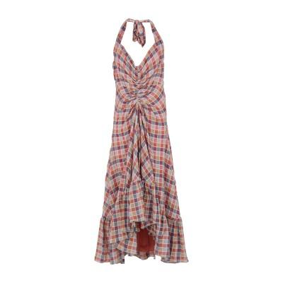 FREE PEOPLE ロングワンピース&ドレス ピンク 2 コットン 98% / ポリウレタン 2% ロングワンピース&ドレス