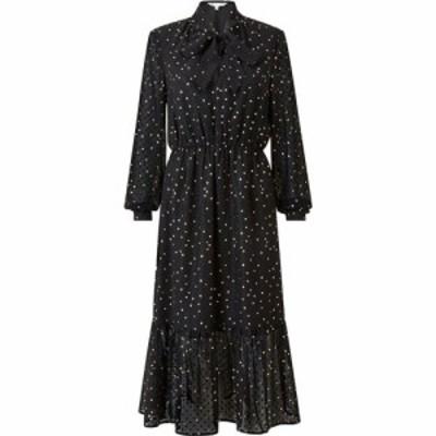 ユミ Yumi レディース ワンピース ミドル丈 ワンピース・ドレス Black Star Foil Midi Dress Black