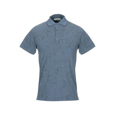 アルファスタジオ ALPHA STUDIO ポロシャツ ブルーグレー 52 コットン 100% ポロシャツ