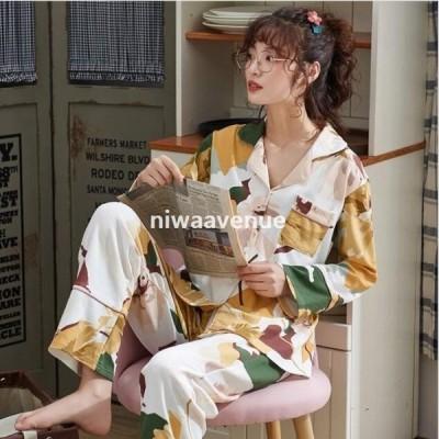 2点パジャマ レディース パジャマ春秋 いちご柄 長袖パジャマ 大きいサイズ 部屋着 可愛い 上下セット ロングパンツ 女性 ルームウェア 寝巻き