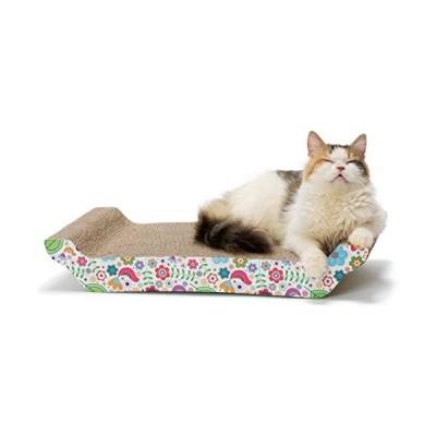 猫壱-バリバリ-ベッド-L-花柄