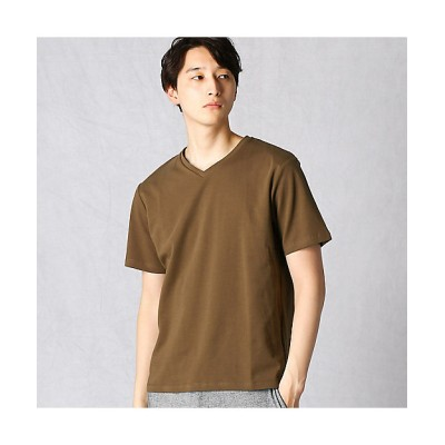 <COMME CA MEN/コムサ・メン> ノンステイン×ナノファイン加工 VネックTシャツ(0742TP04) チャイロ【三越伊勢丹/公式】