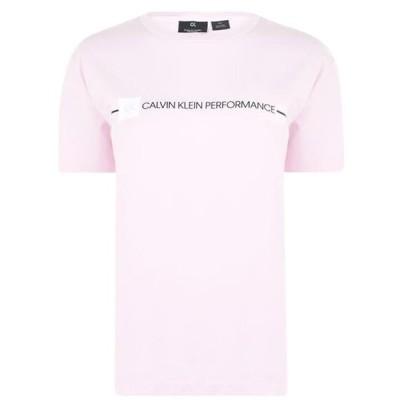 カルバンクライン Tシャツ レディース トップス Logo Short Sleeve T Shirt