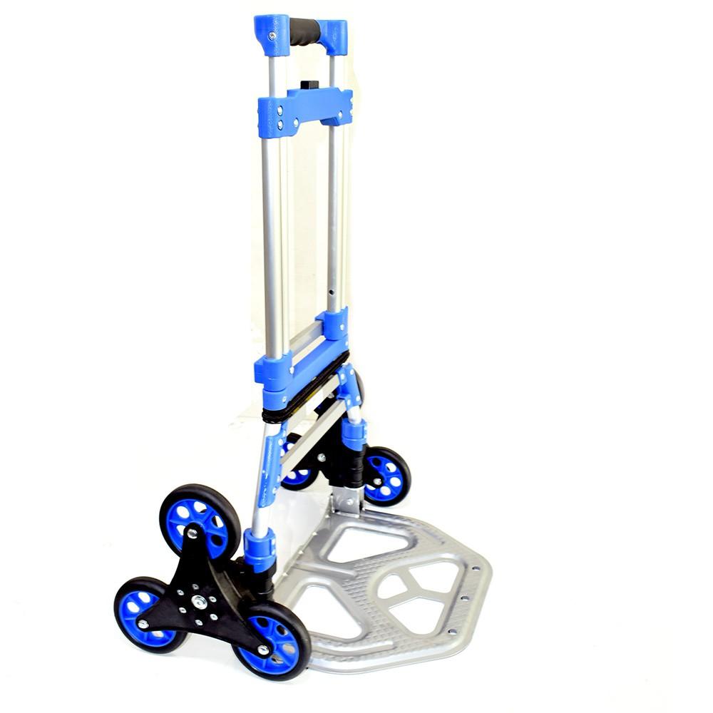 鋁製摺疊六輪手推車/鋁合金折疊式六輪爬梯車/爬樓行李車H-0049 爬樓梯神器 可上下樓梯、旅遊、購物、搬運 台灣製
