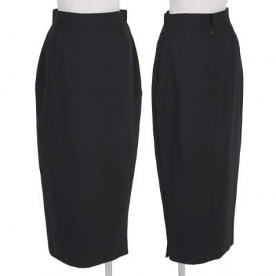 【SALE】ジャンポールゴルチエファムJean Paul GAULTIER FEMME ウールナイロンサイドジップスカート 黒40 【レディース】