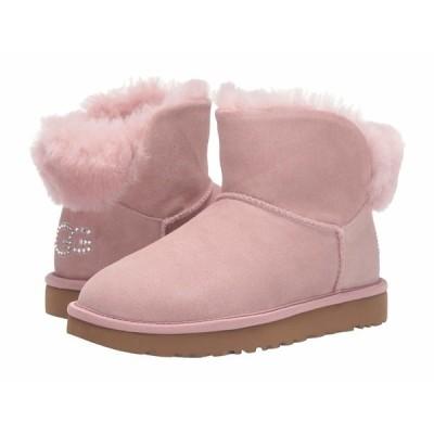アグ ブーツ&レインブーツ シューズ レディース Classic Bling Mini Pink Crystal
