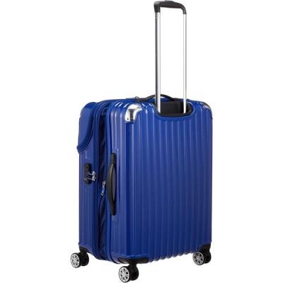 トラベリスト スーツケース ジッパー トップオープン モーメント 拡張機能付き 61L 64 cm 4.3kg ブルーカーボン