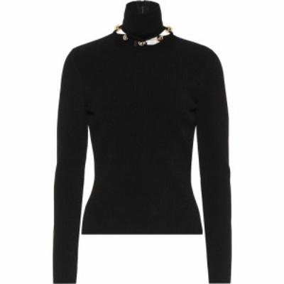 アレキサンダー マックイーン Alexander McQueen レディース ニット・セーター トップス embellished turtleneck sweater Black/Gold
