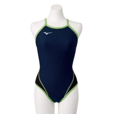 ミズノ 競泳練習用エクサースーツWD ミディアムカット[レディース] 83ネイビー×ライム M スイム 競泳水着 エクサースーツ(フラット姿勢トレーニング) N2MA7776