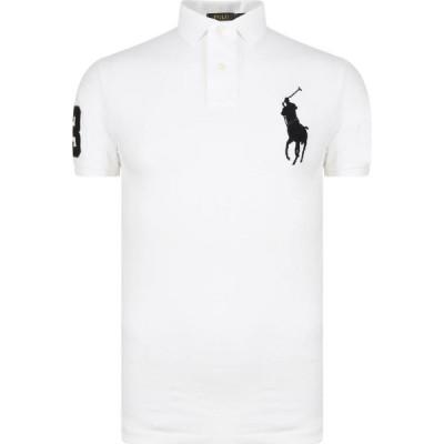 ラルフ ローレン POLO RALPH LAUREN メンズ ポロシャツ スリム トップス Custom Slim Fit Polo Shirt White