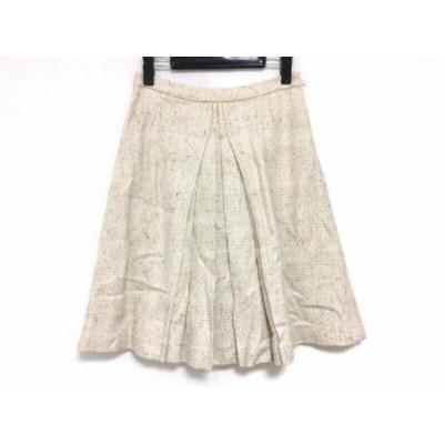 オールドイングランド OLD ENGLAND スカート サイズ34 S レディース ベージュ×ブラウン【中古】20200311