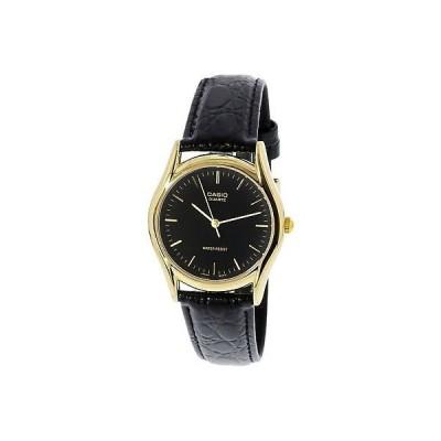 腕時計 カシオ Casio Men's MTP1094Q-1A Black Leather Quartz Fashion Watch