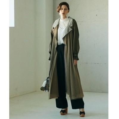 コート トレンチコート 【LA BELLE ETUDE】【Belle vintage】異素材デザインチュールトレンチコート