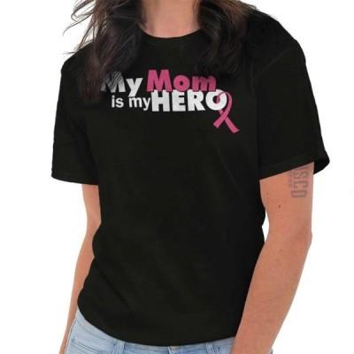 レディース 衣類 トップス Breast Cancer Awareness Ladies TShirts Tees T For Women My Mom Is My Hero Breast Cancer Fighter Gift Tシャツ