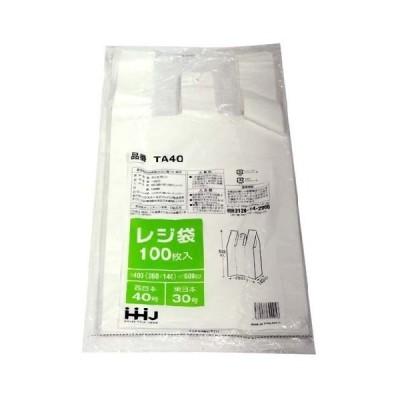 レジ袋 白 西日本40号/東日本30号 ( 100枚入 )