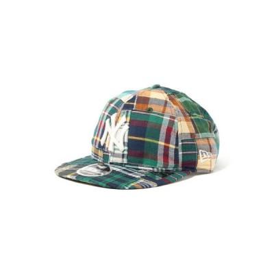 帽子 キャップ NEW ERA × BEAMS / 別注 Patchwork Logo Retro Crown 9FIFTY Cap