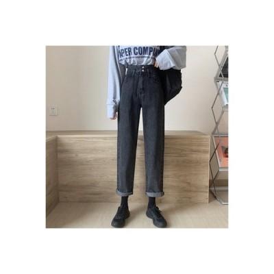 【送料無料】女性のジーンズ 荷重 秋 ファッション ハイウエスト 着やせ ルース ス | 364331_A63669-4712796