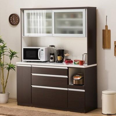 食器棚(レジューム 150AG-S DBR/150SL-R DBR) ニトリ 『配送員設置』 『5年保証』