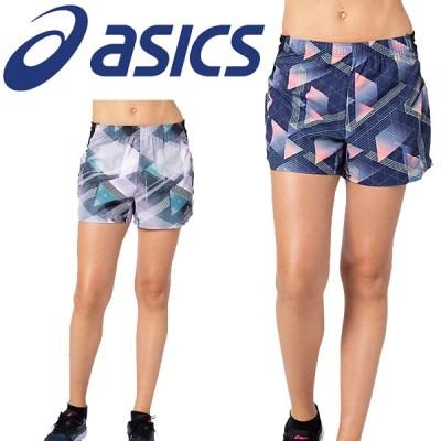ショートパンツ レディース アシックス ASICS W'S ランニング グラフィック マルチポケットショーツ/スポーツウェア マラソン ジョギング 女性/2012B426