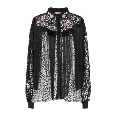 ジャンバ GIAMBA シャツ ブラック 40 ポリエステル 100% / シルク / コットン / アセテート シャツ
