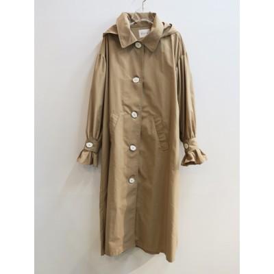 volume sleeve trench coat