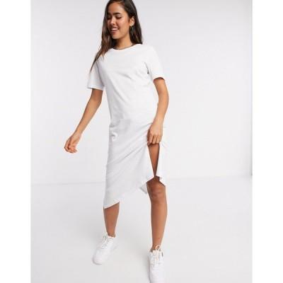 ブレイブソール ミディドレス レディース Brave Soul midi t-shirt dress in white  エイソス ASOS sale ホワイト 白