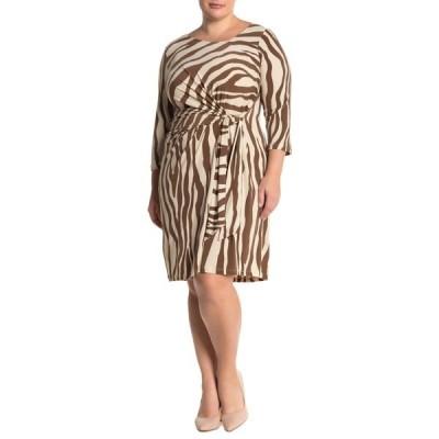 レオタ レディース ワンピース トップス Celeste Zebra Stripe Print Dress ZEBRA STRIPE